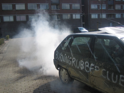 Citroen AX as smoke machine!